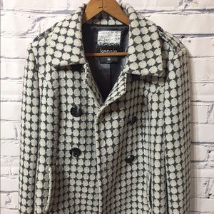 Kensie medium jacket with beige and blue